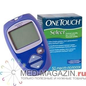 Глюкометр Оne Touch Select +50 полосок