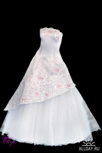 Скачать свадебное платье для фотошопа
