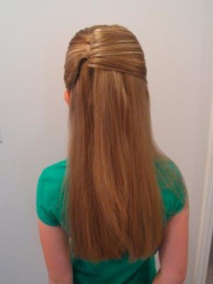 Причёски с невидимками для девочек