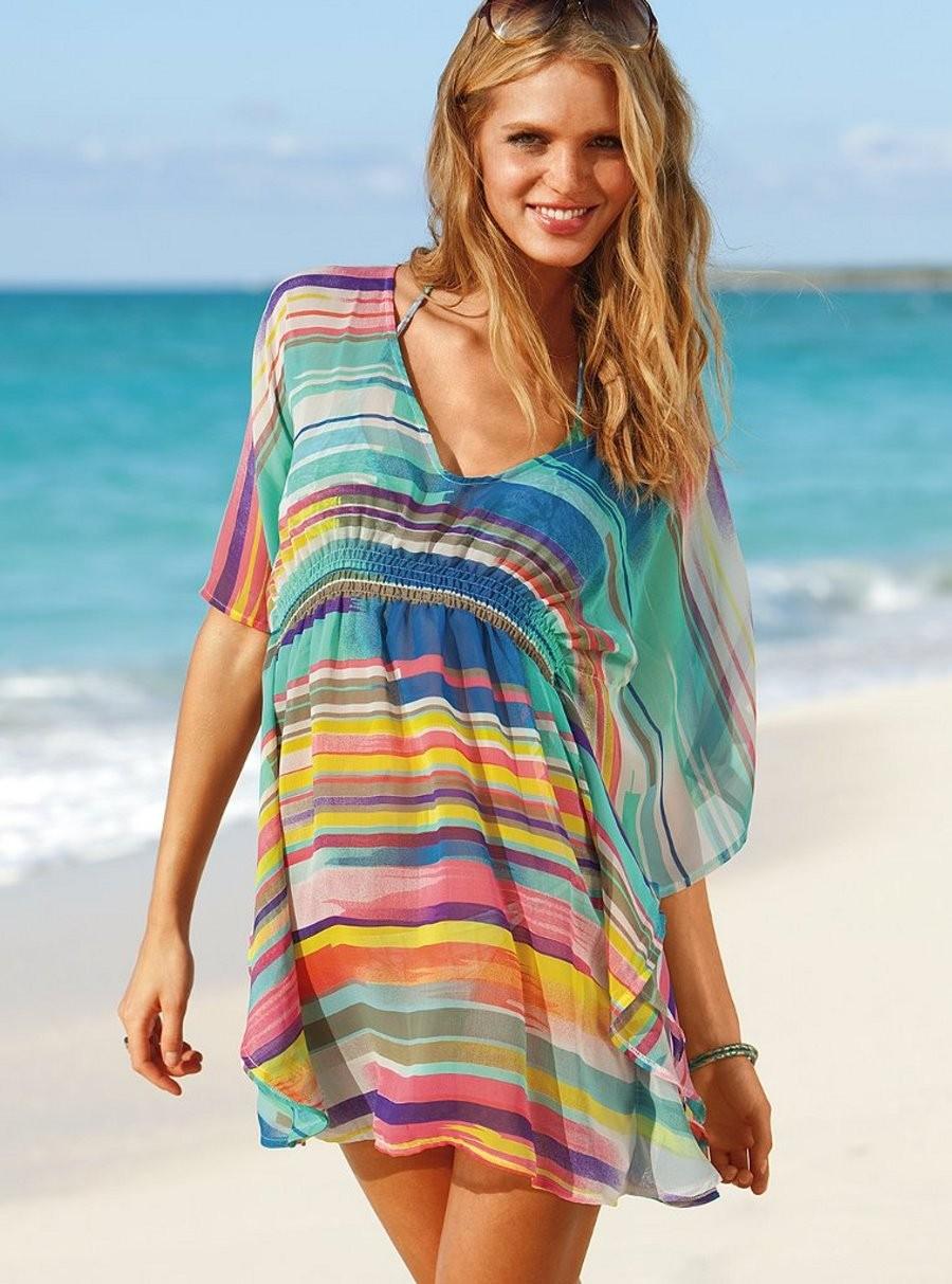 Выкройка пляжного платья для полных 8