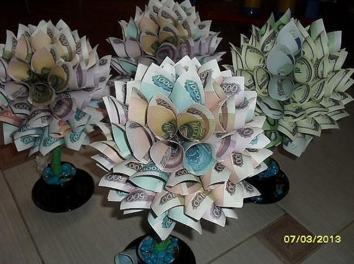 Сделать букет из денег и конфет своими руками