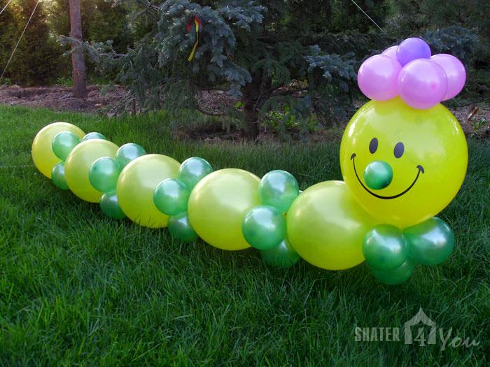 Украшение из шариков на день рождения