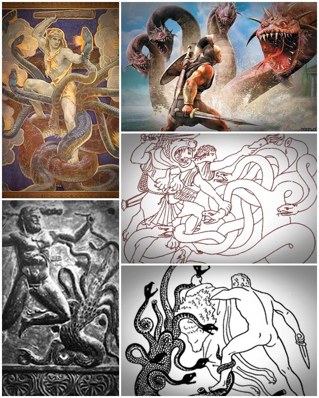 Геракл против Лернейской Гидры