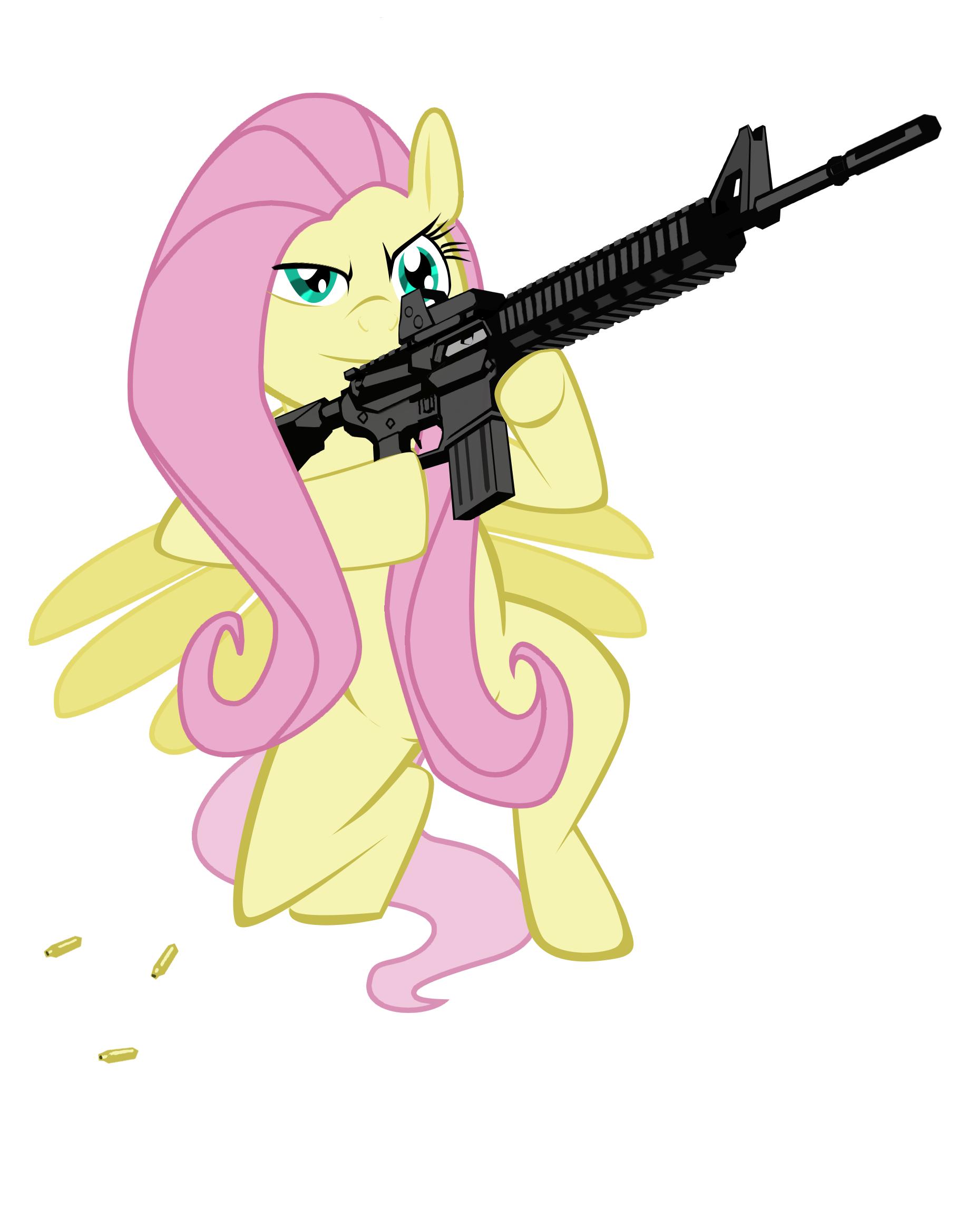 флатершай с оружием