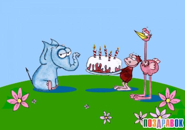 Gif прикольные поздравления с днем рождения