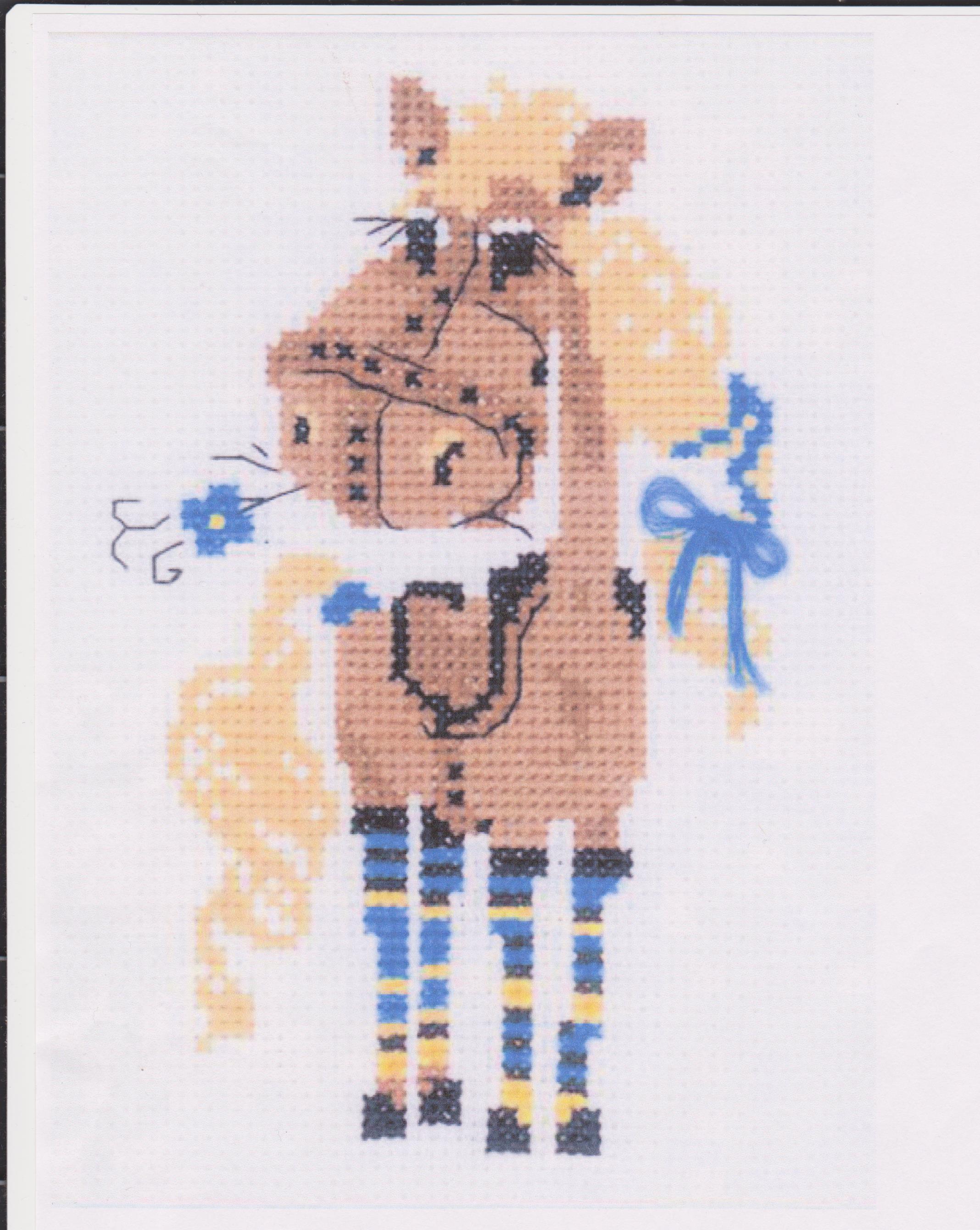 Вышивка лошади детская