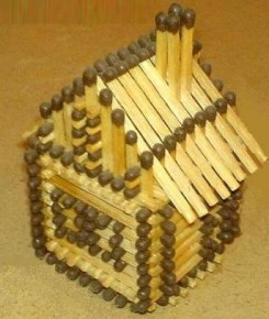 Как сделать модель дома из спичек