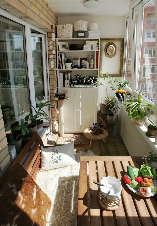 Интерьер на балконе - 30 оригинальных идей, фото - интерьер .