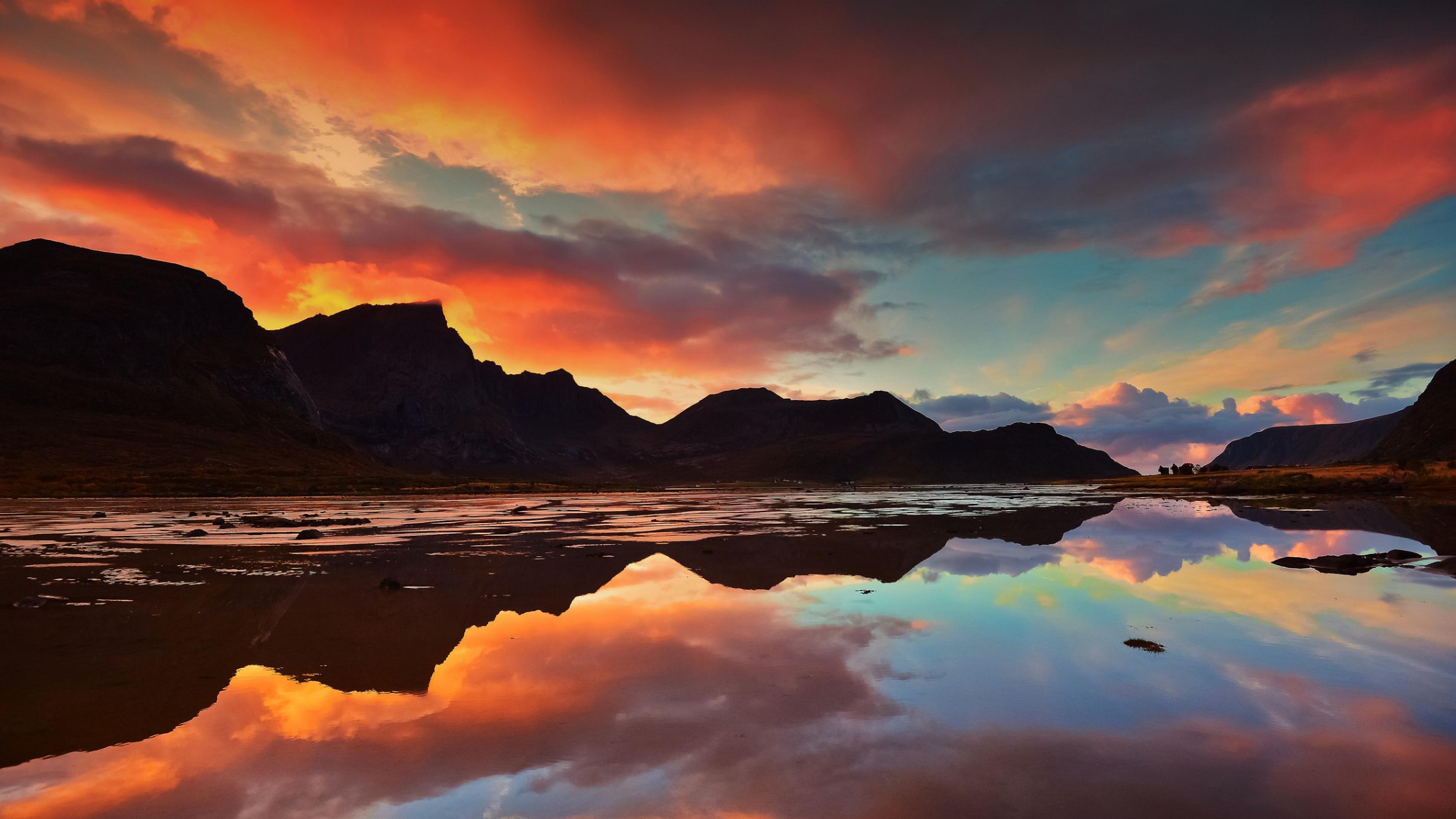 озеро рассвет смотреть