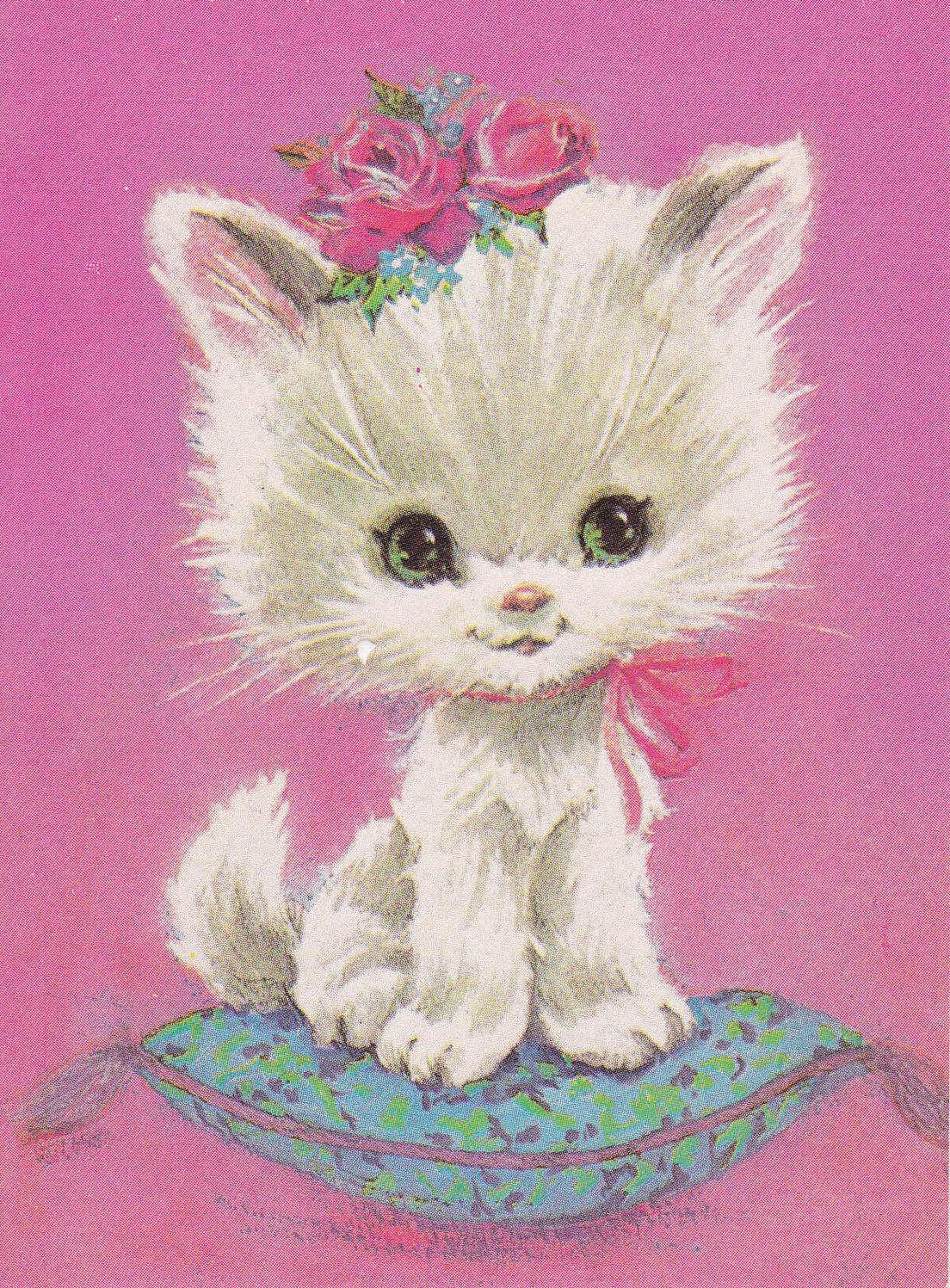 Кот для открытки, днем рождения