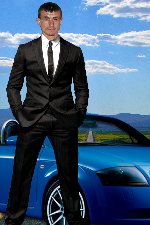 мужской фотошаблон в бизнес стиле утверждаем